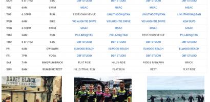 Triathlon Club Training Schedule